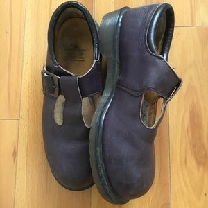 Vintage Dr. Martens Purple Mary Janes England-Made